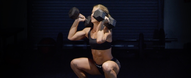 How to do a Dumbbell Squat Clean