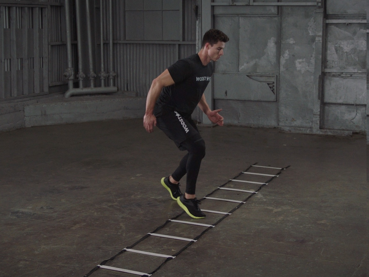Side Shuffle Ladder Drill
